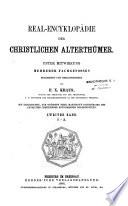 Real-Encyklopädie der christlichen Alterthümer
