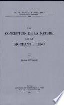 La Conception de la nature chez Giordana Bruno