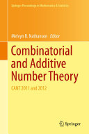 Combinatorial and Additive Number Theory
