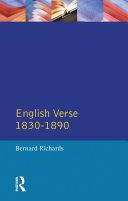 download ebook english verse 1830 - 1890 pdf epub