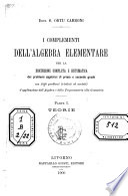 I complementi dell'algebra elementare