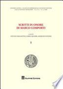 Scritti in onore di Marco Comporti
