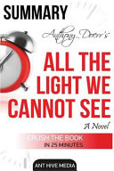 Summary Anthony Doerr s All the Light We Cannot See