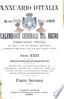 Annuario d Italia  Calendario generale del Regno