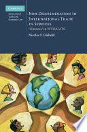 Non Discrimination In International Trade In Services
