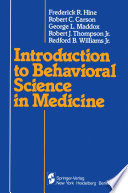 Introduction to Behavioral Science in Medicine