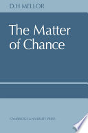 Ebook The Matter of Chance Epub D. H. Mellor Apps Read Mobile