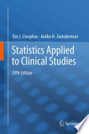 Statistics Applied To Clinical Studies