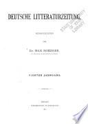 Deutsche Litteraturzeitung
