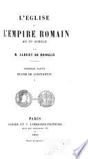 L'Eglise et l'Empire romain au IVe siècle