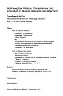 Technological Literacy  Competence and Innovation in Human Resource Development