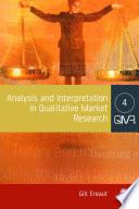 Analysis and Interpretation in Qualitative Market Research