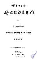 Adreß-Handbuch des Herzogthums Sachsen-Coburg und Gotha