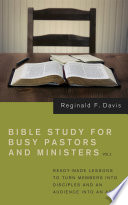 Bible Study For Busy Pastors And Ministers Volume 2