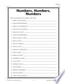 Grade 6 Numbers Critical Thinking Activities