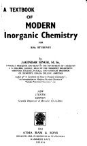 A textbook of modern inorganic chemistry for B. Sc. students