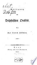 Würdigung des Delphischen Orakels