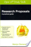 Research Proposals  A Practical Guide