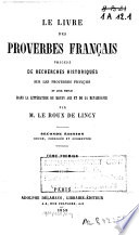 Le livre des proverbes fran  ais