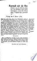 Generaliteits Rapport Conform Het Pr Advis Op Diverse Verzoeken Tot Verkoop Van Schepen En Vleeten Behoorende Tot De Groenlandsche En Straatdavids Visscheryen Overgenoomen 8 Maart 1782