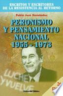 Peronismo y pensamiento nacional  1955 1973