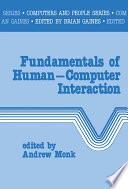 Fundamentals of Human Computer Interaction