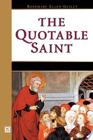 The Quotable Saint - ISBN:9780816043750