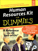 HUMAN RESOURCES KIT FOR DUMMIES  2ND ED