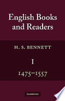 English Books and Readers 1475 to 1557