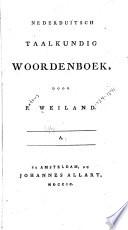 Nederduitsch taalkundig woordenboek
