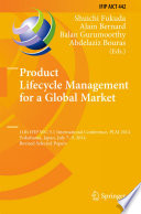 Product Lifecycle Management For A Global Market book