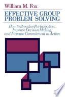 Effective Group Problem Solving