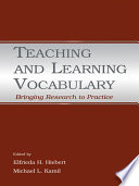 Teaching and Learning Vocabulary