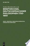 Briefwechsel deutschsprachiger Philosophen 1750–1850