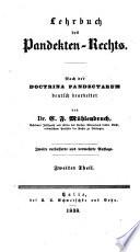Lehrbuch des Pandekten-Rechts