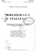 Bibliografia italiana  Gruppo A  Scienze matematiche  fisiche e biologiche  geografia