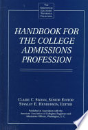Handbook For The College Admissions Profession