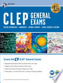 CLEP® General Exams Book + Online, 9th Ed.