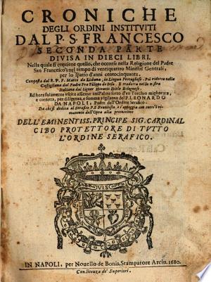 Croniche degli ordini institviti dal P. S. Francesco