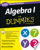 Algebra I  1 001 Practice Problems For Dummies    Free Online Practice