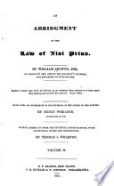 An Abridgment of the Law of Nisi Prius