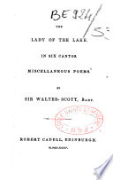 The lady of the lake in six cantos