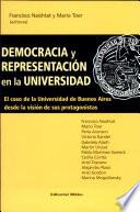 Democracia y representación en la universidad