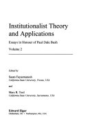 Institutionalist Method and Value