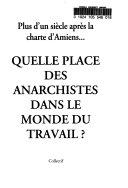 Quelle place des anarchistes dans le monde du travail