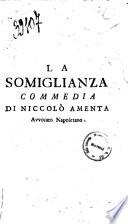 La somiglianza commedia di Niccoló Amenta avvocato napoletano