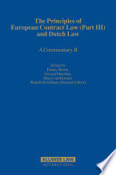 The Principles Of European Contract Law Part Iii And Dutch Law