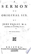 A Sermon On Original Sin ... The Third Edition : ...