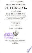 Histoire romaine de Tite Live  Suppl  ments de Freinsh  mius  livre 11 16