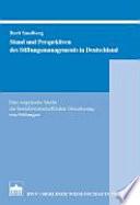Stand und Perspektiven des Stiftungsmanagements in Deutschland